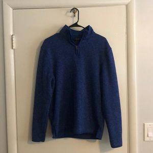 Club Room Blue Quarter Zip Pullover